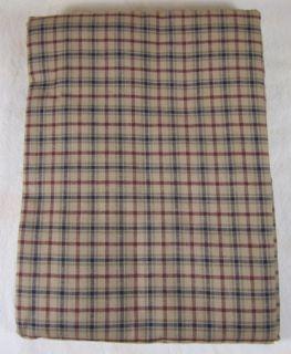 Country Burgundy Navy Tan Plaid Millsboro Cotton Table Cloth 60x80 In