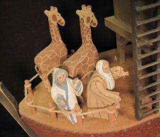 Millwood Toy Company Noahs Ark Carvd Wood Folk Art Barn