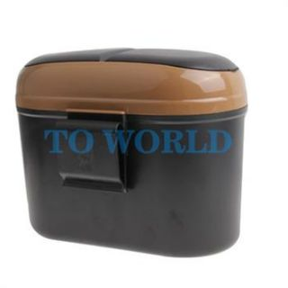 Mini Car Door Seat Back Mount Car Trash Can Dust Bin Garbage Litter