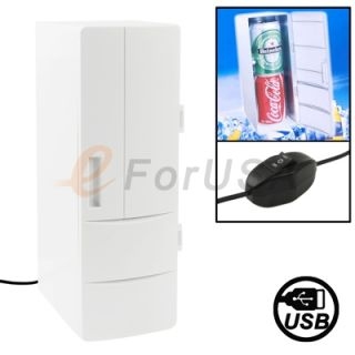 PC USB Mini Fridge Cool Drink Beverage Can Refrigerator Drink Cooler