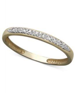 Diamond Ring, 10k Gold Channel Set Diamond Band (1/5 ct. t.w.)   Rings