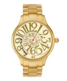 Betsey Johnson Watch, Womens Gold Tone Stainless Steel Bracelet