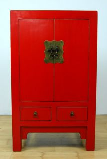 Ming Style Red Black Cabinet Chest Dresser Stand 39