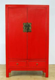 Ming Style Red Black Cabinet Chest Dresser Stand 59 LG
