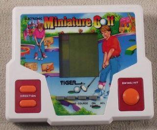 Tiger Miniature Golf Electronic Handheld Game