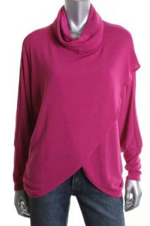 Nally Millie New Pink Dolman Asymmetrical Cowl Neck Pullover Sweater
