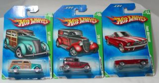 Hot Wheels 2009 Regular Treasure Hunts Lot of 3 Mustang 34 37 Ford