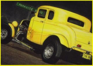 American Graffiti Milners Deuce Coupe Artist Print Limited Edition
