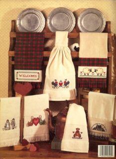 Mimis Country Towels Dolls Ducks Cross Stitch Pattern