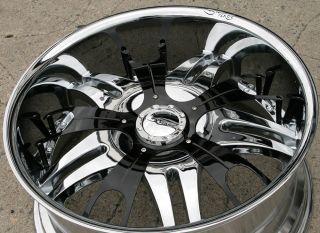 Dvinci Vento 22 Chrome Rims Wheels Nissan Titan Pickup 22 x 9 5 6H 15