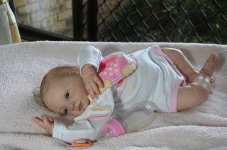 Reborn Baby Girl Newborn Mary by Natalie Blick Extreme Realism Tummy
