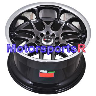Chromium Black Polished Lip Rims Staggered Wheels 96 Nissan 300zx TT