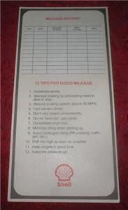 Gas Service Station Nomograph Mileage Record Calculator Chart