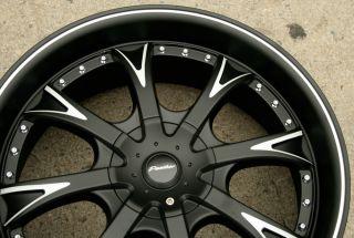 Panther EVO 907 20 Black Rims Wheels Jaguar s Type s Type 20 x 8 5 5H