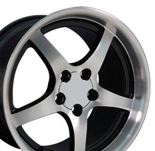 17 18 9 5 10 5 Black Corvette C5 Style Deep Dish Wheels Rims Fit
