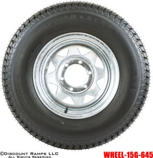 Wheel 225 75 15 Boat camper Trailer Spare Rim Tire Wheel 15g