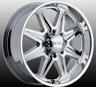 22 inch Incubus Grim Chrome Wheels 8x170 Ford F250 F350