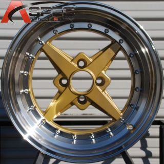 Zero Plus 4x100 0 Royal Tommy Gold Wheel Fits Golf Jetta Miata