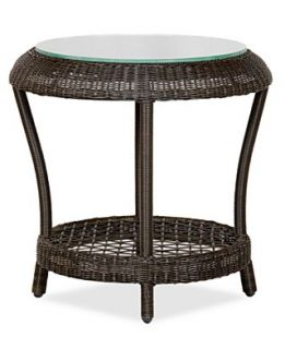 Harper Wicker Patio Furniture, Outdoor End Table