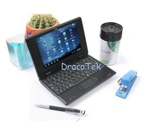 Mini Netbook Laptop Notebook WM8850 1 2GHz Android 4 0 WiFi Camera