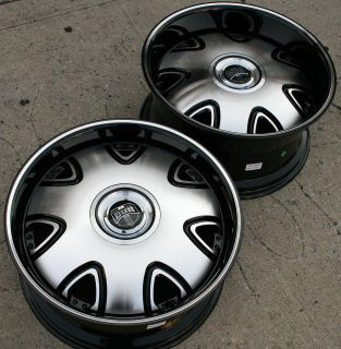 20 Black Rims Wheels Nissan Maxima Staggered 20 x 8 5 10 5H 35