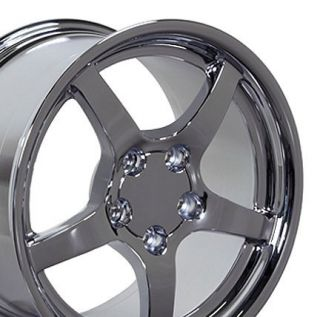 18 19 9 5 10 Chrome Corvette C5 Style Deep Dish Wheels Rims Fit