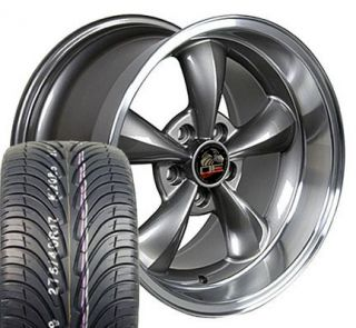 17 9 10 5 Anthracite Bullitt Bullet Wheels ZR Tires Rims Fit Mustang