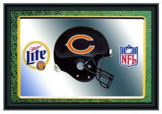 Chicago Bears Helmet Miller Lite Beer NFL Mirror
