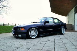 BBS WHEELS RIMS SET + TIRES 412 17X8.5 BMW E36 E32 E30 FALKEN RARE LIP