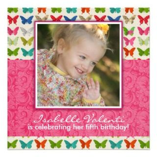 Butterfly Birthday Party Invitation invitations by colourfuldesigns