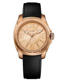 Tommy Hilfiger Watch, Womens Black Silcone Strap 1781149