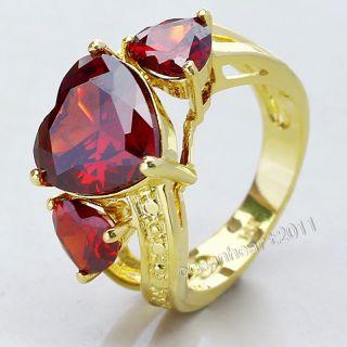 Fancy Womans 18K Yellow Gold Filled Emerald Sapphire Garnet Peridot