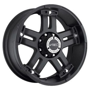 17 inch V Tec Warlord Black Wheels Rims 5x5 5x127 25 Jeep Commander
