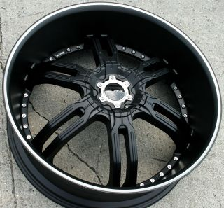 Elite Carnal W113 26 Black Rims Wheels GMC Envoy 6x127 Rainier 26 x 9