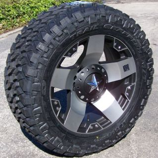 20 MACHINED XD ROCKSTAR WHEELS & NITTO TRAIL GRAPPLER TIRES TOYOTA
