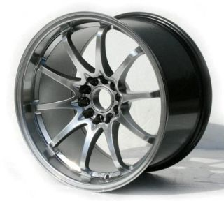 18x9 5 Varrstoen ES331 Hyper Black 5x100 Wheel Fit 2013 Scion Fr s TC