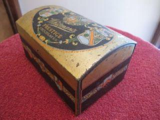 Vintage Whitmans Prestige Chocolates Candy Tin Chest 6 1 4 x 4 x 3
