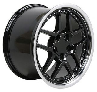 17 18 9 5 10 5 Black Z06 Wheels Rims Fit Camaro Corvette