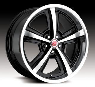 20 Black Shelby Wheels Rims 05 10 Mustang 07 10 GT500