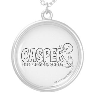 Casper the Friendly Ghost Logo 2 Personalized Necklace