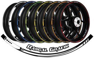 Rascal Grafik 17in Universal Wheel Speed Strip Kit Blue Smoke RA36926