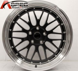 18 Staggered Black LM Style Wheel Fit BMW E90 E91 E92 325 328 335