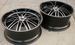 Ruff Racing 947 22 Black Rims Wheels Maxima Staggered 22 x 9 0 10 5H