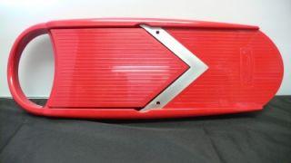 Mandolin V Slicer Stainless Steel Blade Bonus Mini V Slicer Red