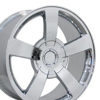 22 Silverado SS Chrome Wheels Set of 4 Rims Fits Chevrolet Cadillac
