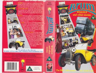 Brum Wheels and Other Storiesvhs Video PAL RARE Find