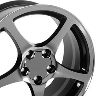 18 Corvette C5 Black Wheels with A Machined Face Set of 4 Rims Fits