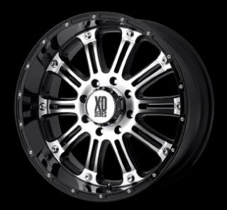 22 inch KMC XD Hoss Black Wheels Rims 5x150 Tundra 30