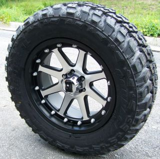 20 Black XD Addict Wheels Rims 35 Federal M T GMC Sierra Dodge RAM
