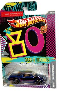 Hot Wheels Cars of The Decades 21 Buick Grand National
